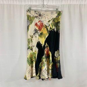 Roberto Cavalli Silk print flowy skirt